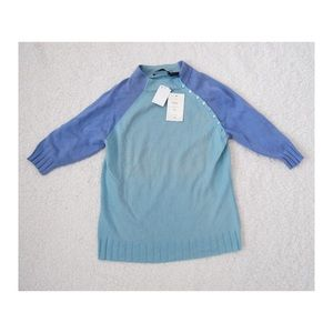 Easel Cashmere colorblock Turtleneck Sweater NEW